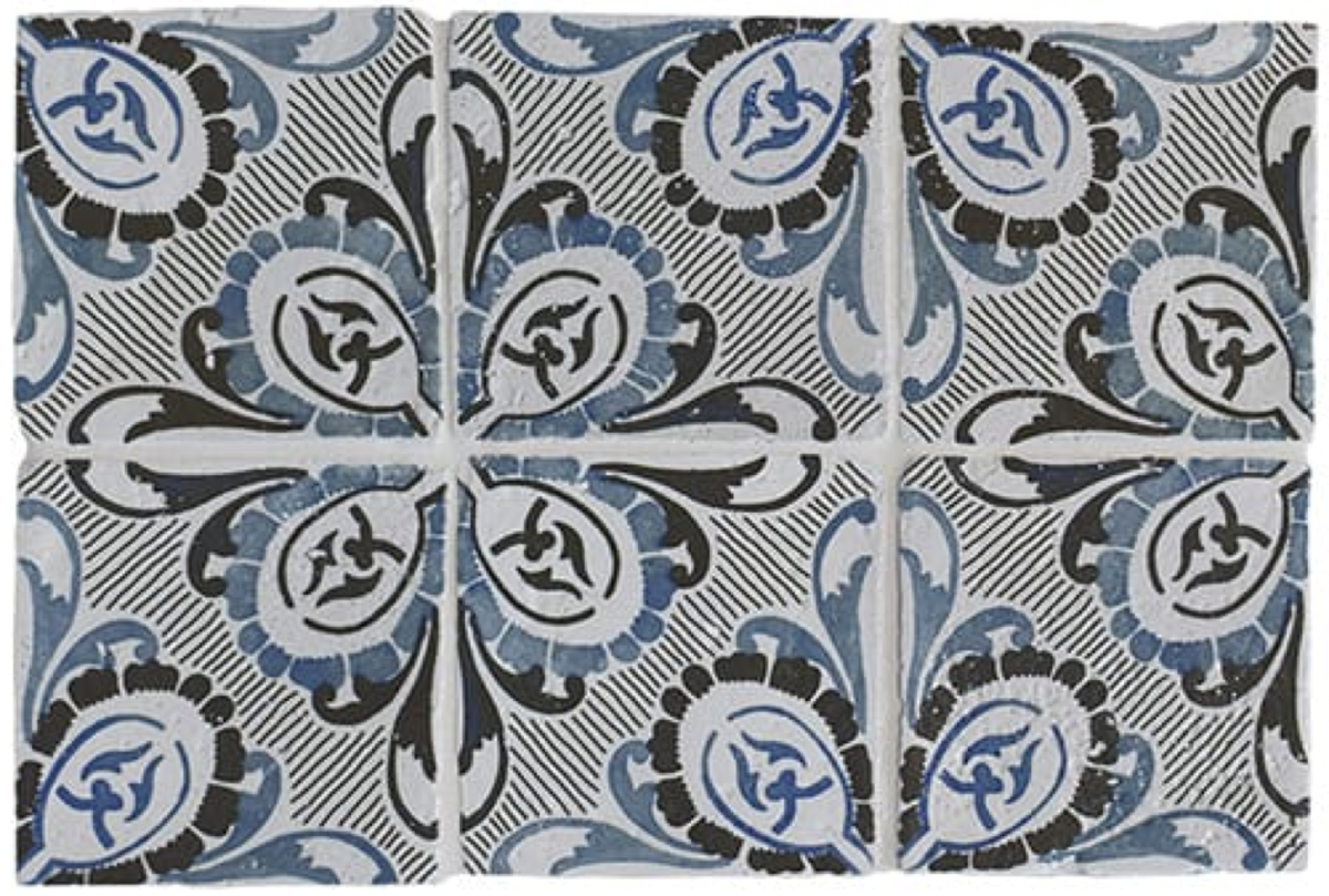 Antiqued Glazed Ceramic Tile